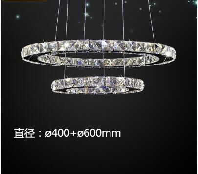 Ring LED Office Round Crystal Pendant Simple modern living room light Dining room three bedroom creative personality lamps