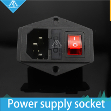 1PCS 3D printer parts 15A 250V  3 in 1 Fuse Power switch AC power outlet For Makerbot/Ultimaker 2/RepRap