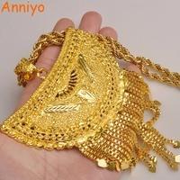 Anniyo Very Big Africa Pendant Necklaces For Women Gold Color Ethiopian Nigeria Congo Sudan Ghana Arab