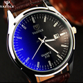 2017 Mens Relojes de Primeras marcas de lujo Hombre Reloj Fecha Reloj de Pulsera de Cuarzo Reloj Calendario Completo de Cuero Masculino Del Relogio