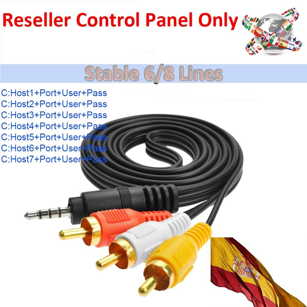 Reseller Control Panel Best Stable 6/8 Lines Cccams Spain Germany Ccam Lines For DVB-S2 Freesat V7 HD GTMedia V9 Super V8 Nova