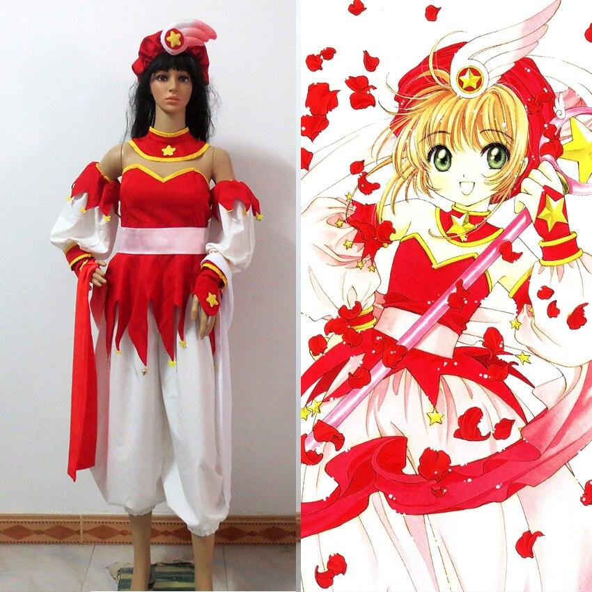 KINOMOTO SAKURA Cosplay Da Card Captor Sakura Cosplay robe