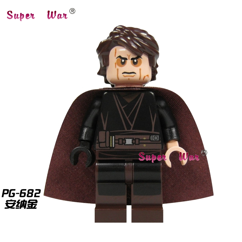 1PCS  Superhero Marvel Anakin Skywalker 9494 Building Blocks Action  Sets Model Bricks Toys For Children