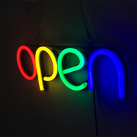 Ultra Bright Artwork Hanging Chain Open Decorative Sign Lamp Door Neon Light Window Displaying Wall Restaurant Led Store Bar
