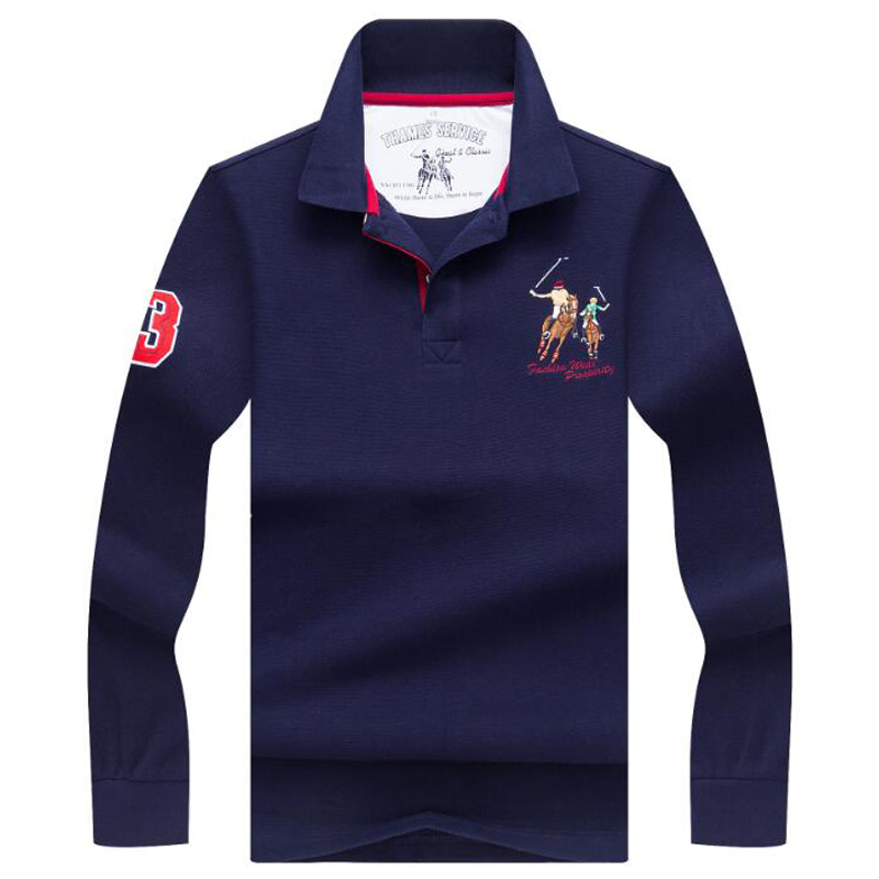 Spring Autumn Long Sleeve   Polo   Shirt High quality business casual men's   polo   shirt Comfortable shirt   polo   men Branded clothing