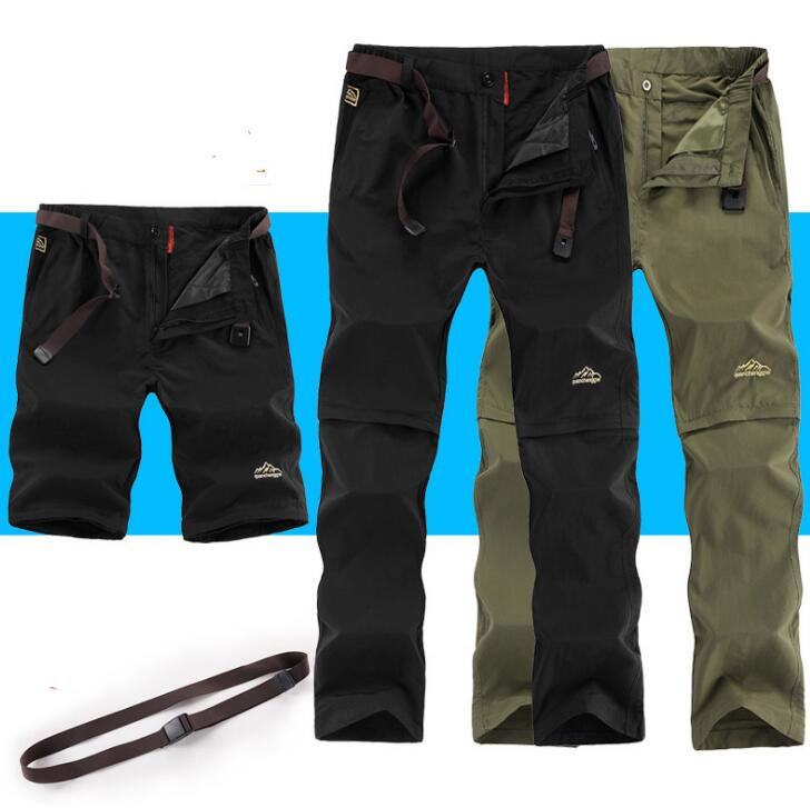 <font><b>6XL</b></font> Removable Quick Dry Waterproof Summer Outdoor Sport Pant <font><b>Men</b></font> Travel Camping Fishing Hiking Male Breathable Plus Size Trouser image