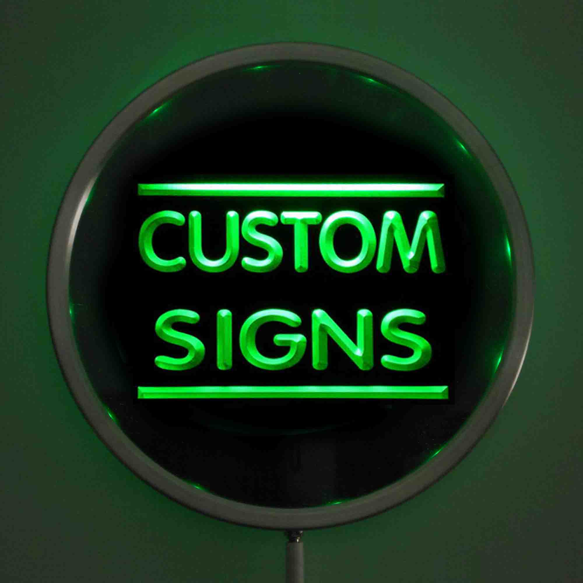 Circle Custom LED Neon Signs 25cm/ 10 Inch - Design Your Own Round LED Signs With RGB Multi-Color Remote Wireless Control