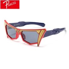 Psacss NEW Cartoon Mask Polarized Kids Sunglasses Girls Boys Childrens Vintage Silicone Frame Sun Glasses UV400 Gafas Infantil