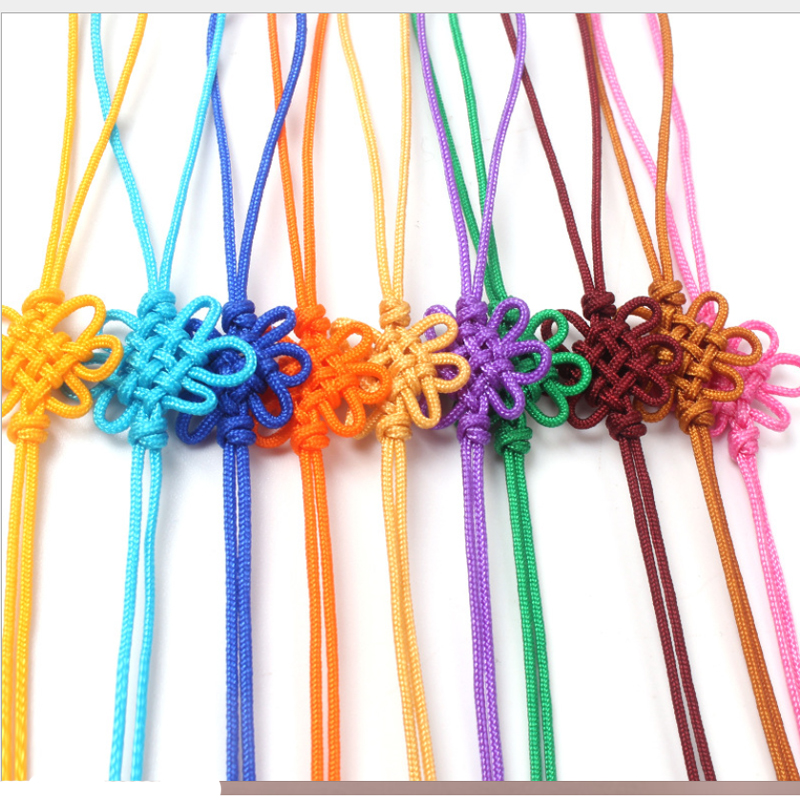 DIY Chinese Knot Pendant Tassel Fringe Nylon Thread Chinese Decorative Knot 100pcs Friend New Year Gifts Mini Tassels Craft Gold in Tassel Fringe from Home Garden