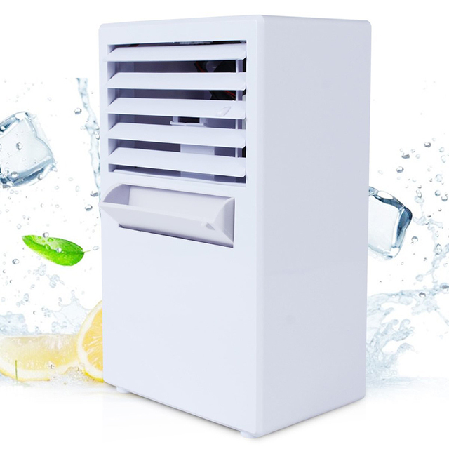 Summer Portable Mini Personal Air Conditioner Fan Air Conditioner Evaporative Air Cooler Misting Desk Cooling Fan Humidifier