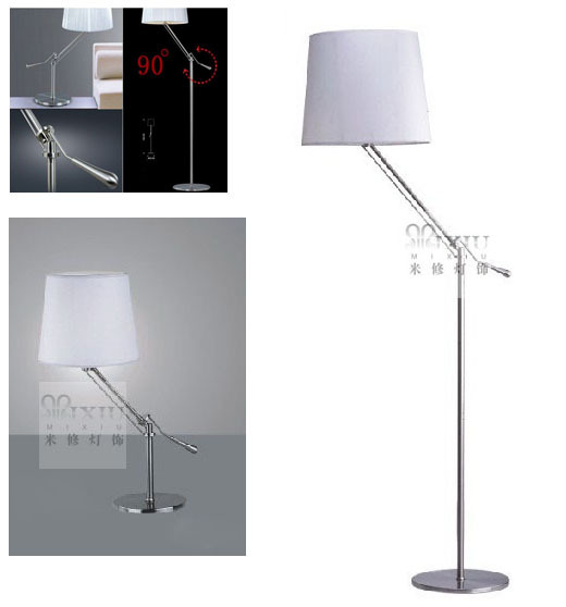 Newton arm floor lamp table lamp lights up and down italy for Table up and down but