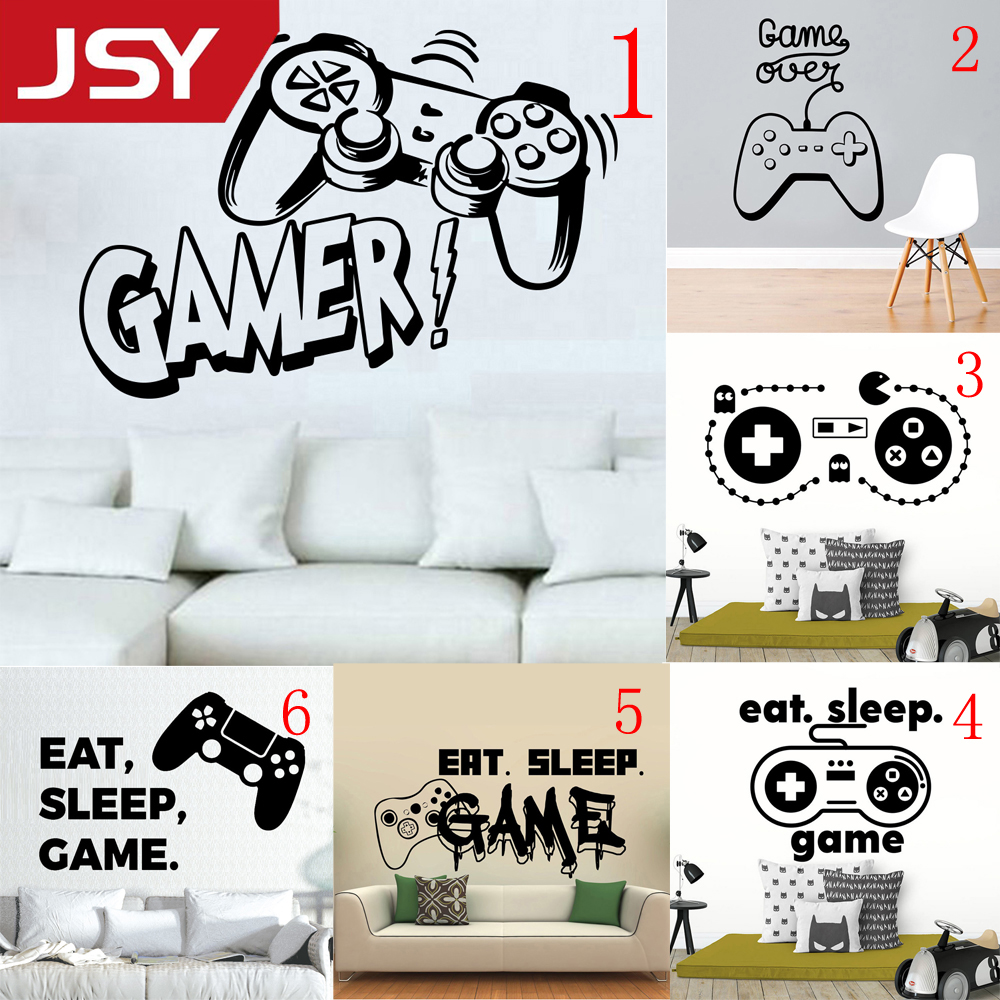 Carved play game Wall Stickers game room For Kids boys Room bedroom Decor Wall Decoration Murals in Wall Stickers from Home Garden
