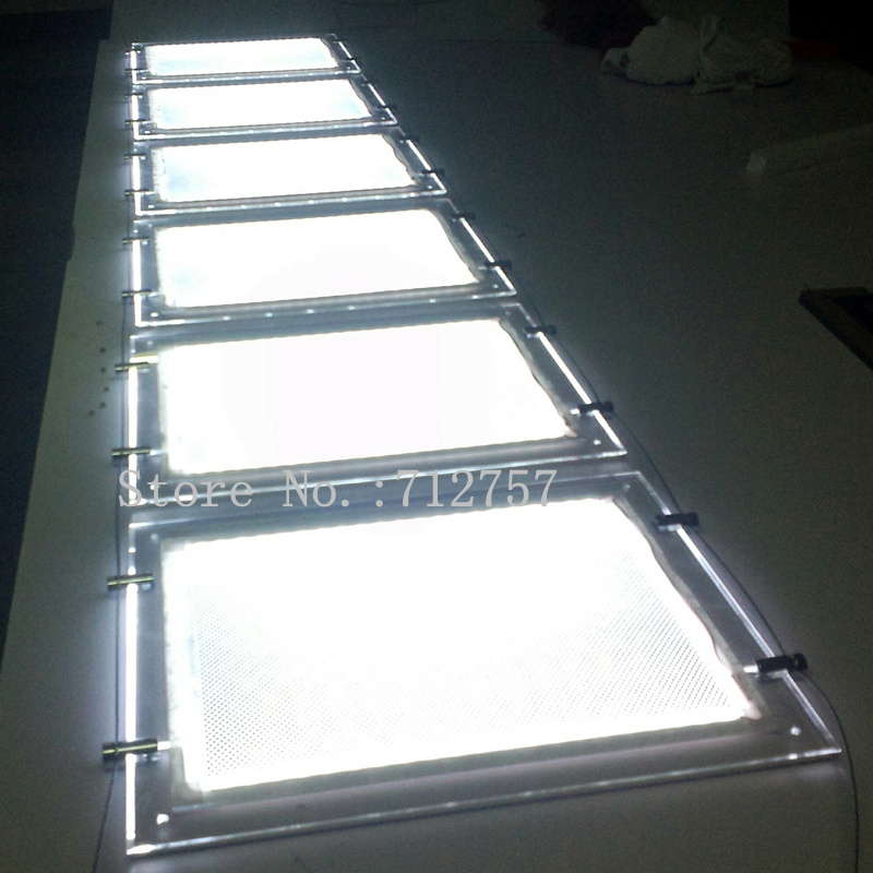 Immobilien LED Fenster Display A4 Doppelseitige Acryl rahmen Light ...