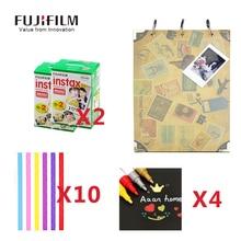 Fujifilm Instax Mini 8 Camera Film 40 sheet Fuji Paper 30 Pages large Size Photo Autograph Memoirs 4 Pens 10 Pcs Corner Stickers