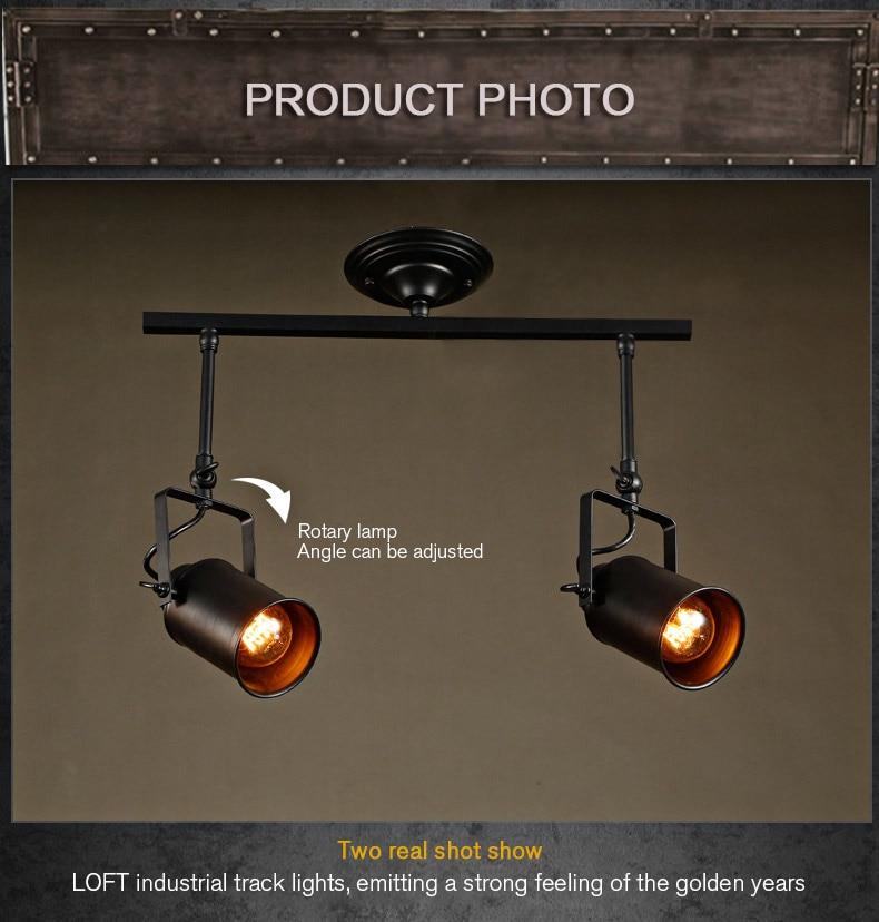Loft Bar Wall Probe Pendant Light Black Track Lights Spotlights Clothes Ceiling Lamp 1 2 3 Heads In From Lighting