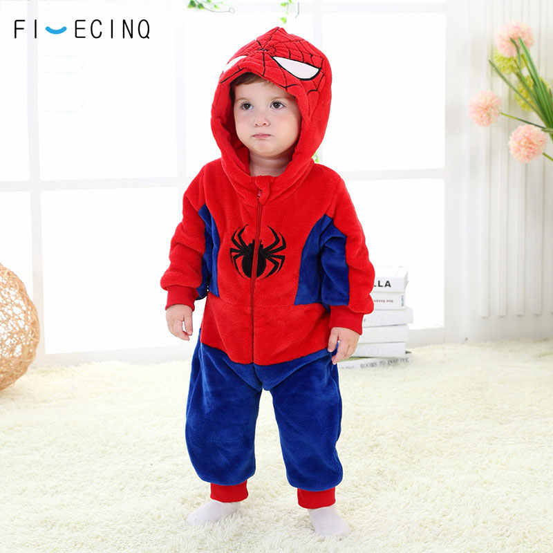 a738f8182c Kigurumi Baby Anime Spider Cosplay Costume 0 - 3 Years Old Kids Fantasias  Soft Funny Pajama