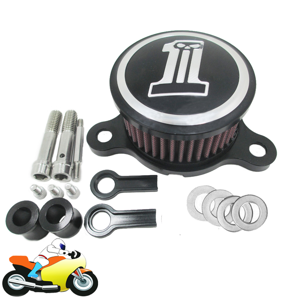 CNC Aluminum Motorcycle Air Cleaner Intake Filter Kits For Harley Davidson Sportster XL883 1200 2004-2014 motorcycle cnc aluminum headlight grill cover for harley sportster xl883 xl1200 2004 2014