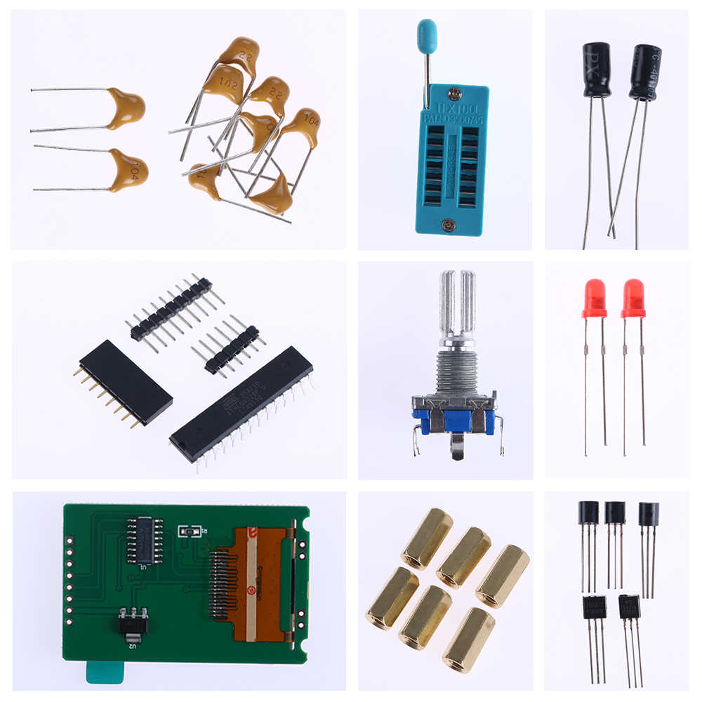New Hot DIY TFT GM328 Transistor Tester Diode LCR ESR Meter PWM Square Wave  Generator Electrical Frequency Measuring