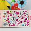 HAPPYXUAN 5pcs/lot Plastic Cystal Diamond Stickers Love Heart Round Shape DIY Crafts Materials Kids Girls Toys