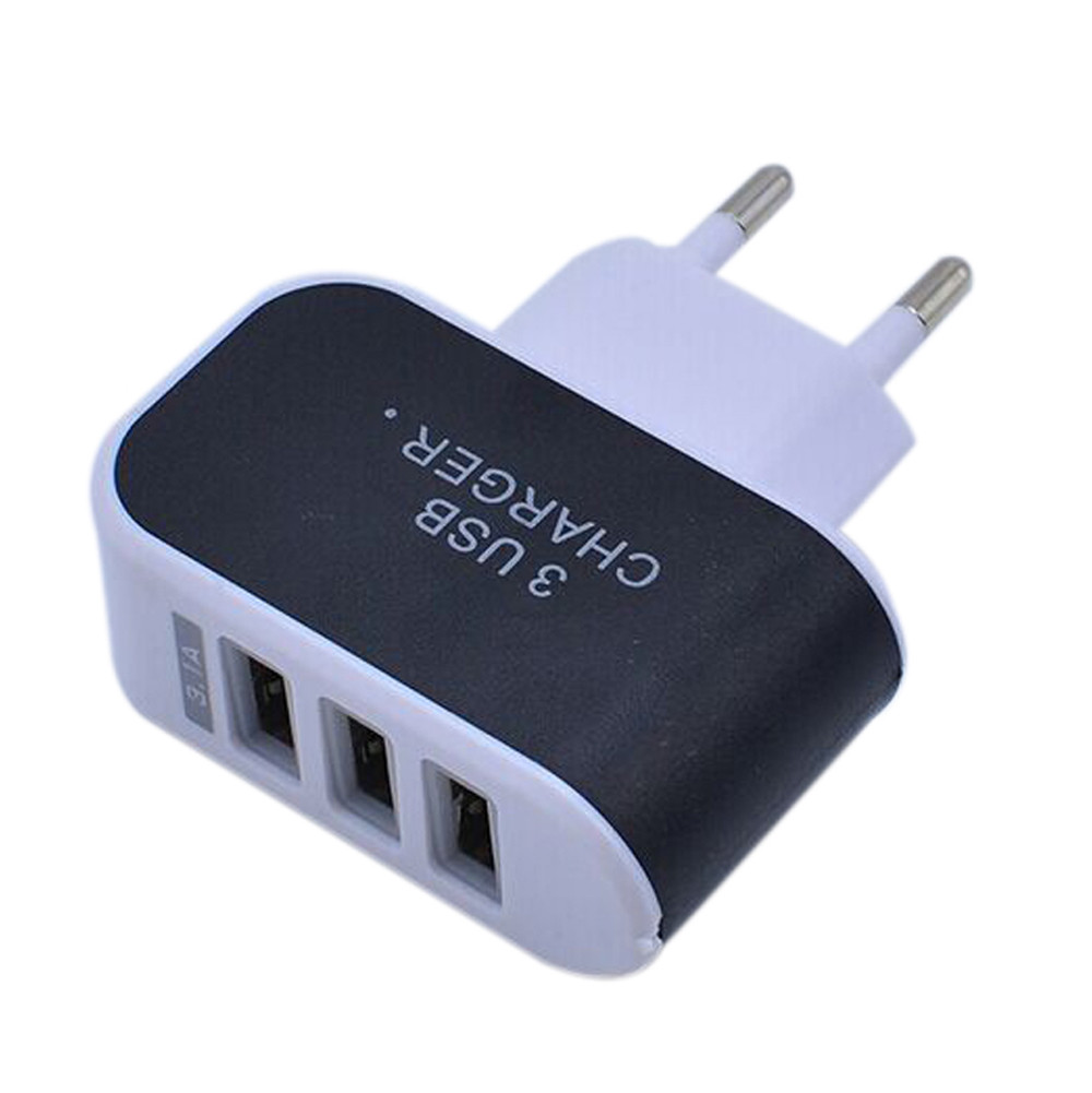 Wholesale 3.1A Triple USB Port USB Charger Adapter AC Power Charger Adaptor for iPhone 4 4s 5 5s 6 6s Samsung s4 s6 s5 s7 #YL120