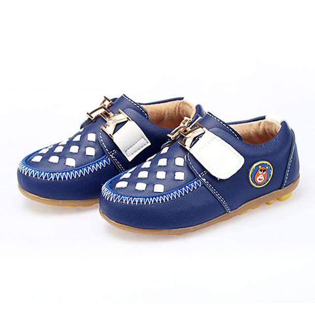 2017 Patchwork Bebé Primero Andadores Infantiles de Cuero Genuino Zapatos Casuales Resbalón en Niños Niños Niñas Zapatillas Unisex Toodlers Calzado