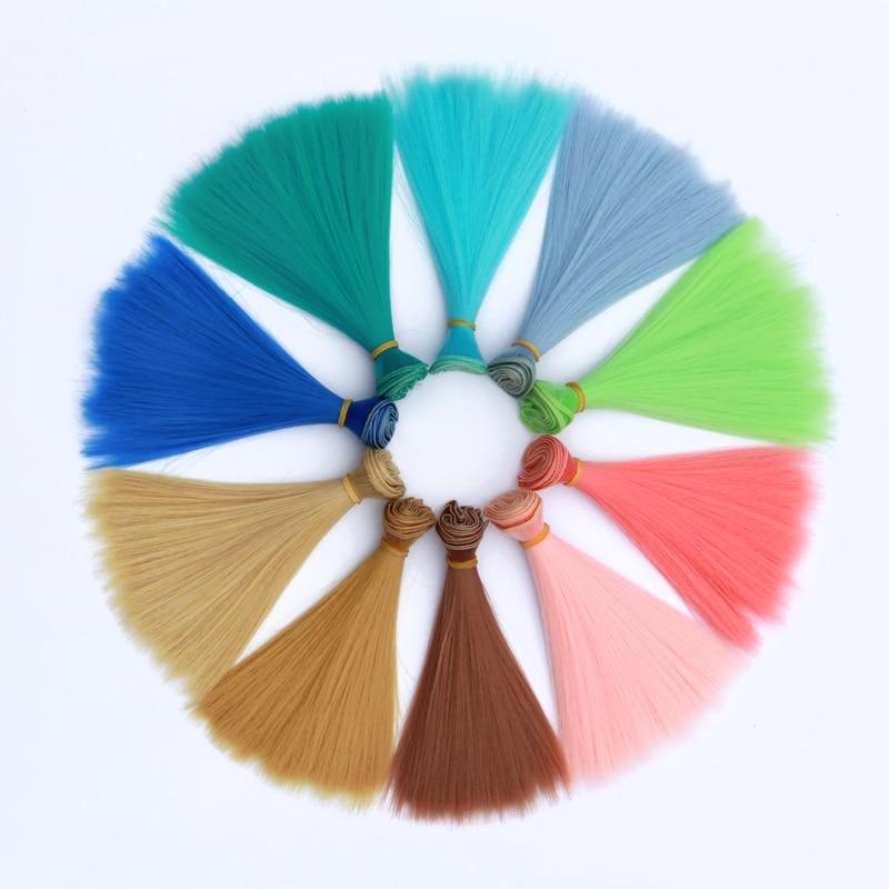 Msiredoll Bjd Wig 15*100CM Or 20*100CM Or 25*100CM Doll Hair For 1/3 1/4 1/6  Straight Hair Doll Hair Bjd Wig Diy Free Shipping