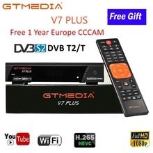 DVB T2 тюнер рецептор 1 год CCCAM линии для цифрового ТВ коробка DVB-T2 USB Wifi ТВ приемник GTmedia V7 Plus DVB-S/S2+ T/T2 рецептор