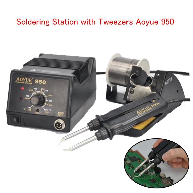 Soldering Station with Tweezers Aoyue 950 SMD Antistatic thermostat adjustable IC  Electronic maintenance tool 920 car styling 200w 12v car alarm siren electronic horn wireless 9 tone car loudspeaker police siren automotive buzzer