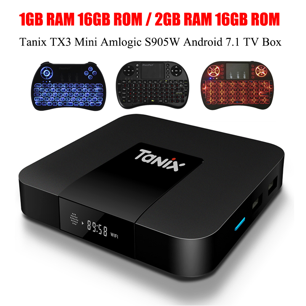 tanix tx3 mini smart tv box amlogic s905w 1 5ghz set top. Black Bedroom Furniture Sets. Home Design Ideas