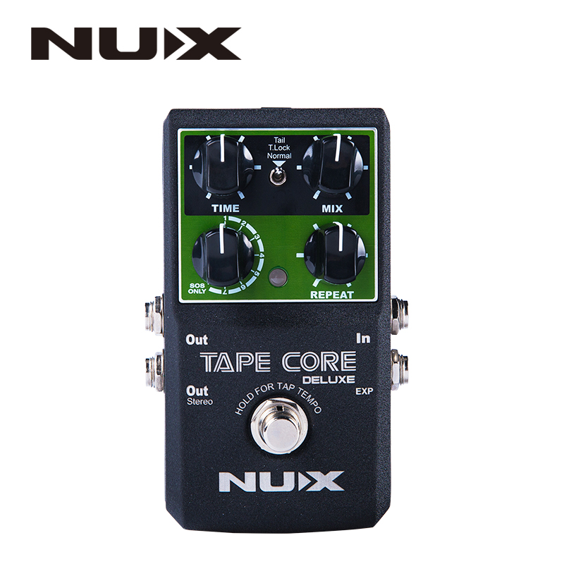 NUX Tape Core Deluxe Echo Effect Pedal, 7 Models Delay Effects True Bypass Guitar Effect Pedal for Guitar Bass - Lightwish nux metal core distortion effect pedal true bypass guitar effects pedal built in 2 band eq tone lock preset function guitar part