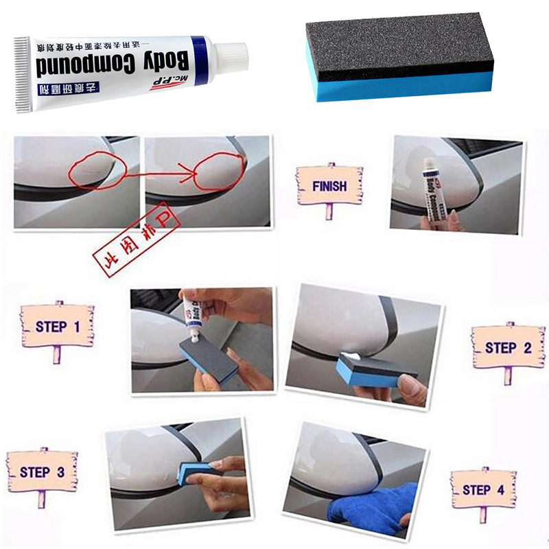 Image 3 - Car Body Compound Paste Set Scratch Paint Care For Ford Focus 2 1 Fiesta Mondeo 4 3 Transit Fusion Kuga Ranger Mustang KA S max-in Car Stickers from Automobiles & Motorcycles