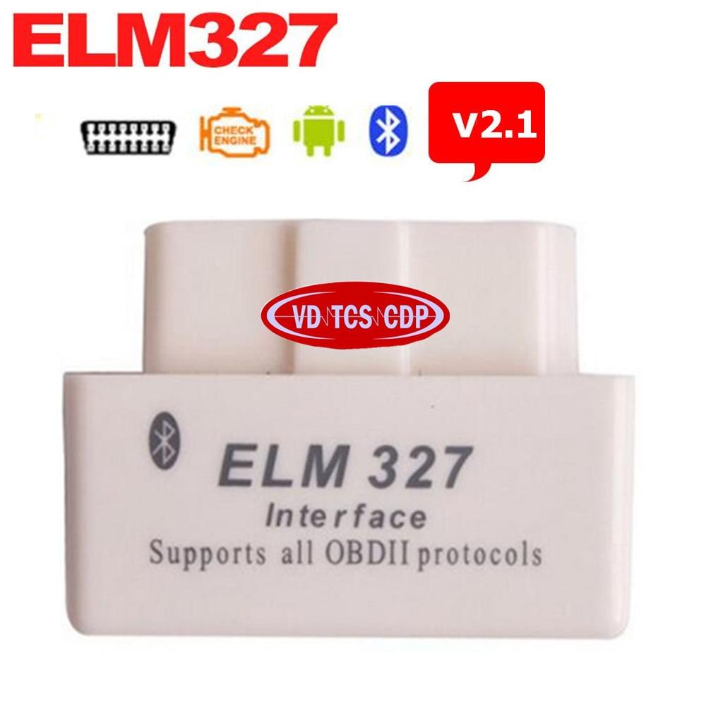 <font><b>2017</b></font> White Super Mini Elm327 <font><b>Bluetooth</b></font> V2.1 <font><b>OBD2</b></font> ELM 327 <font><b>Bluetooth</b></font> Smart Car Diagnostic Interface ELM 327 V2.1 works on Android