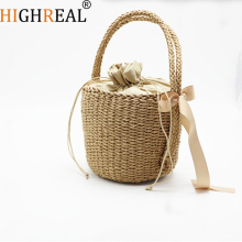 Fashion Beach Handbags Ladies Hand Bag Tote Travel Clutch 2018 Bohemian Straw Bags Women Summer Wicker Basket Bag C242