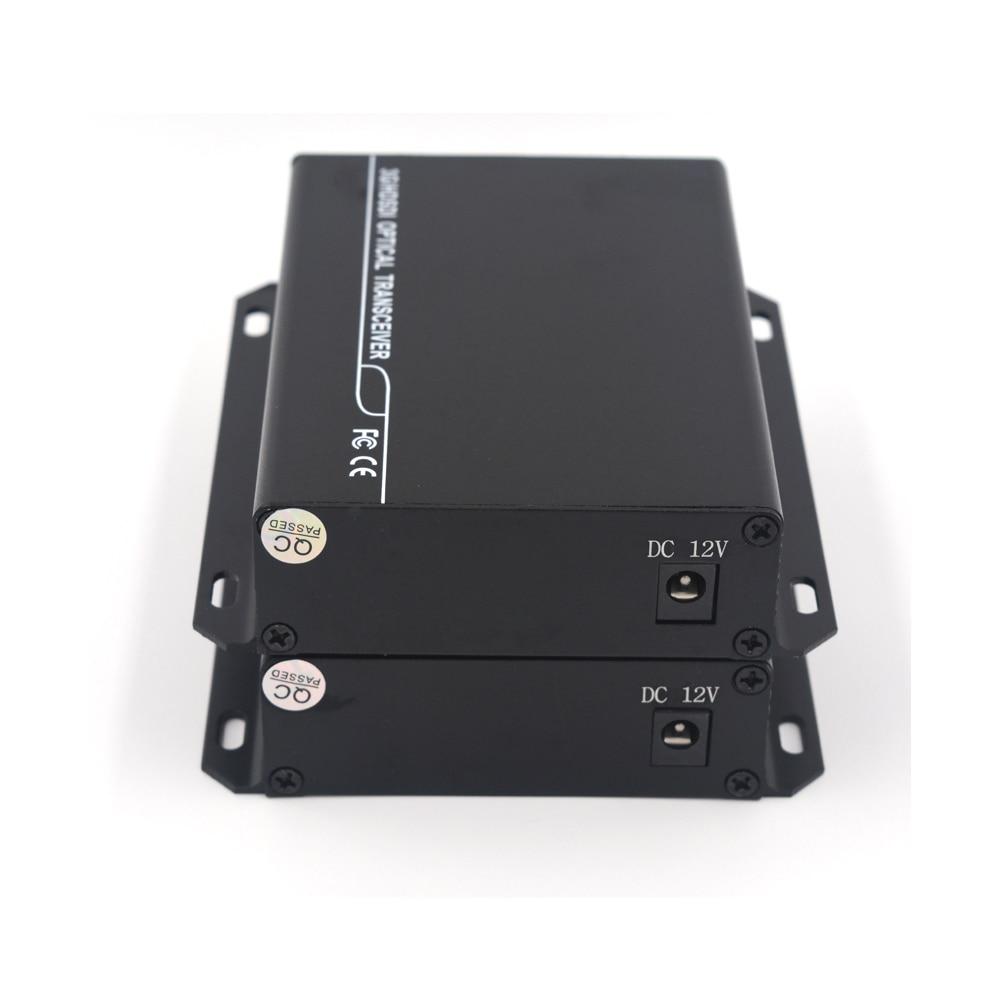 Image 4 - 3G HD SDI Video/Audio/RS485 Data over Fiber optic Media Converters Transmitter Receiver single fiber 10Km SFP LC HD video-in Fiber Optic Equipments from Cellphones & Telecommunications