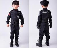 Children S Halloween Costumes Fantasia Disfraces Boys Police Costumes Kids Policeman Cosplay Game Uniforms
