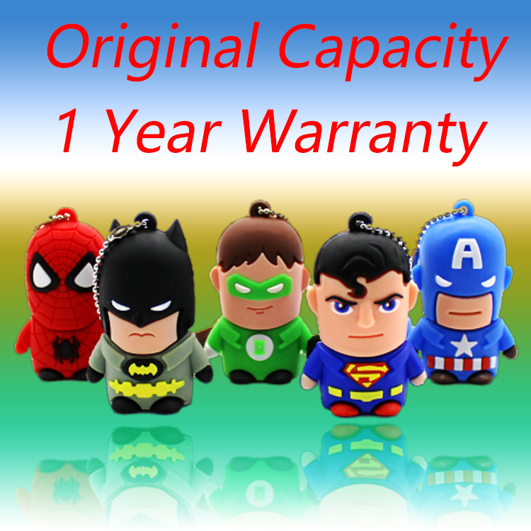 USB 3.0 Cartoon Superman <font><b>Spiderman</b></font> Batman Pendrive 64GB Flash Drive Pen Drive128GB 512GB 32GB Memory Stick Disk On Key Gift