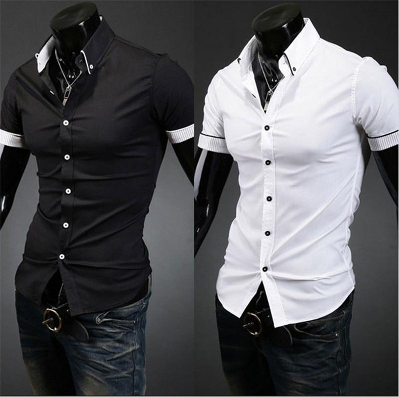 Mens Short Sleeve Button Down Dress Shirts