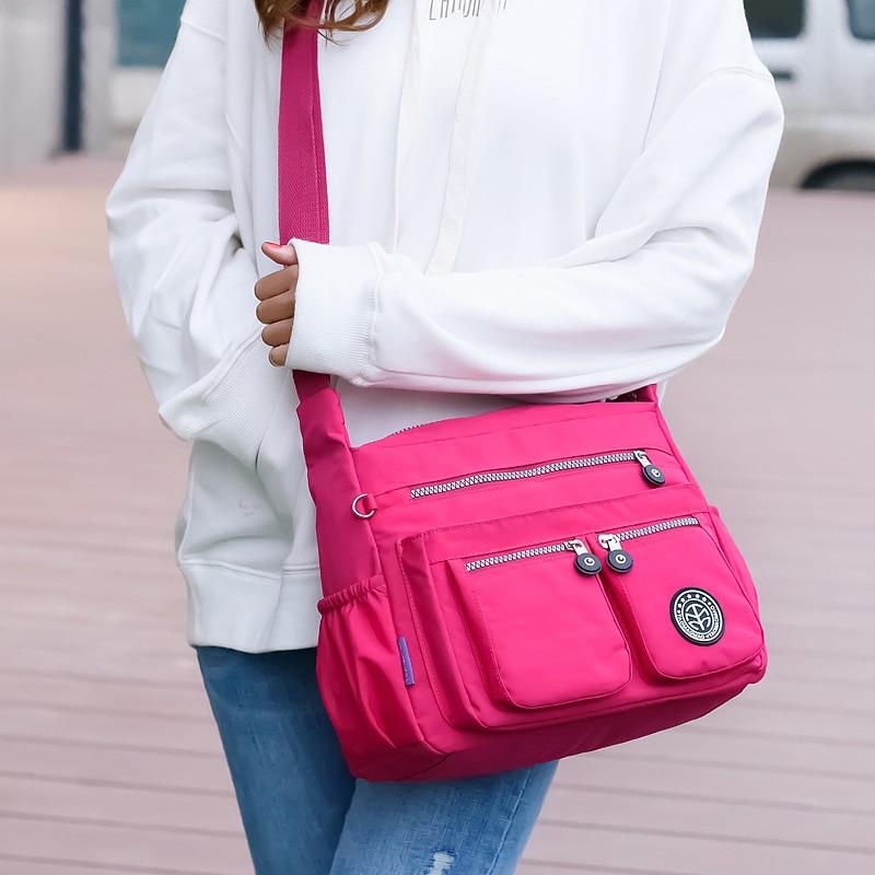 Women Nylon Shoulder Bags Female Solid Zipper Luxury Female Handag Designer Messenger Bags Summer Beach Crossbody Bag Sac A Main 5