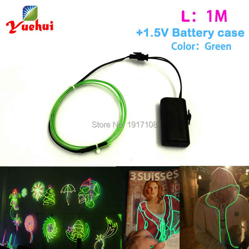 10 Color selected 1M 1.3mm With Model Party Decoration Led thread Sticker Indoor Flexible Neon Light EL Wire Rope Tube