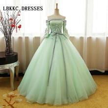 Светло-зеленые Бальные платья из атласа с цветами, пышные бальные платья, Vestido De Debutante Sweet 16