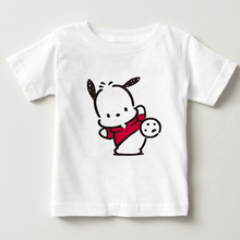 цена pochacco DOG children T - shirt 2-15 year old boy and girl short sleeves tshirt children Pure cotton breathable T - shirt MJ