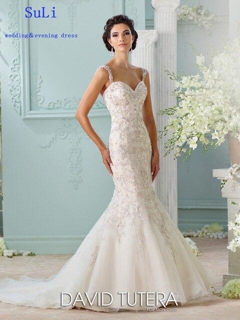 Aliexpress.com : Buy SA51 Shiny Backless Bridal Gowns Beading ...