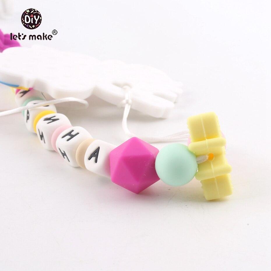 Unicorn Elephant Baby Ribbon Dummy Clip Made To Match Next