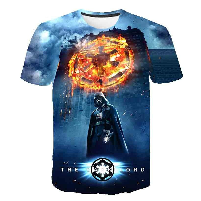 Image 5 - T shirt New high quality mens t shirts Star Wars cartoon  costumes movie t shirts harajuku adult darth vader funny mens t  shirtT-Shirts