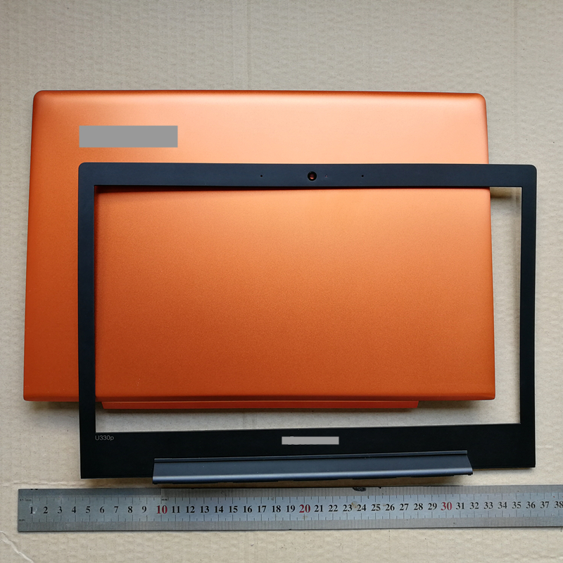 New laptop Top case lcd back cover +lcd front bezel cover for lenovo U330 U330P new original laptop lcd top cover for lenovo ideapad u330 u330p u330t back cover touch model 3clz5lclv30 gray