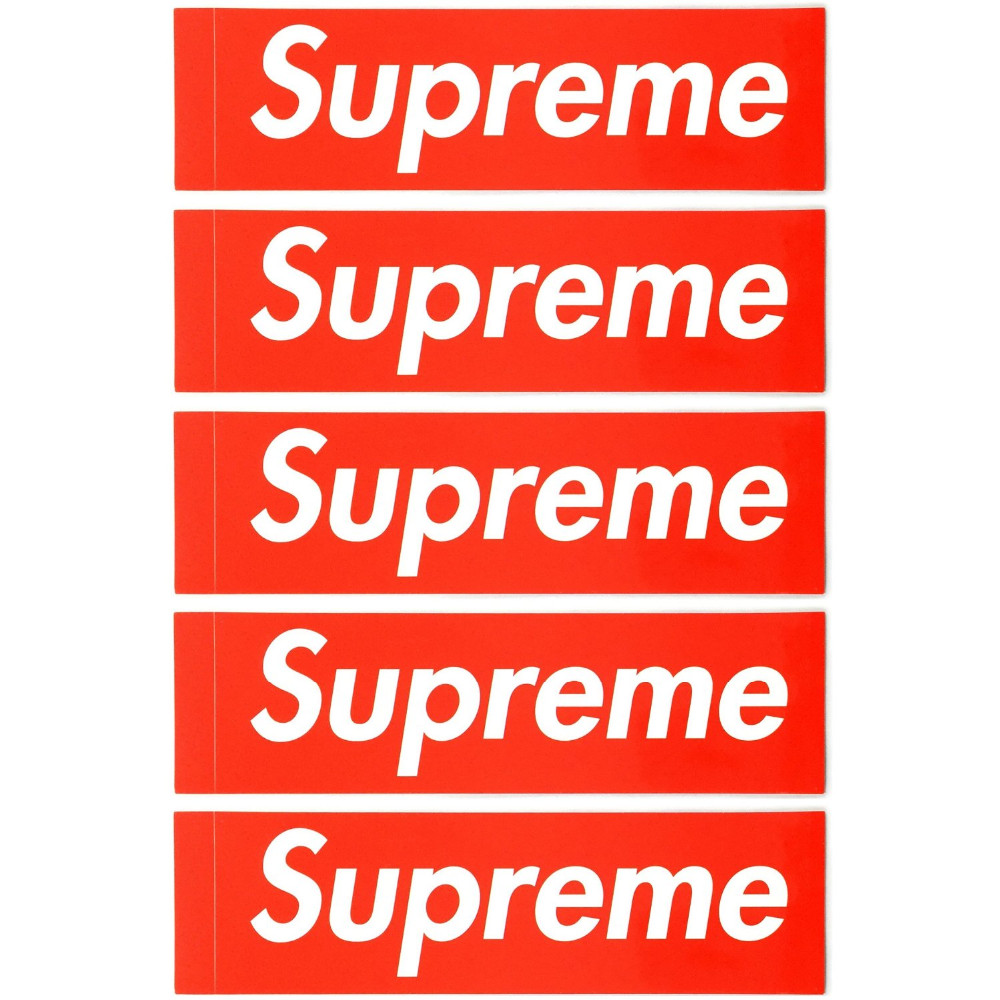 6pcs/lot new style PVC sticker waterproof UV proof street brand,big size supreme sticker 19cm*5.cm Car Laptop Wall Red Box Logo