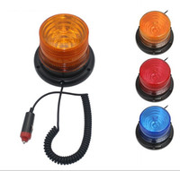 DC12V Hot Sale Magnetic Mounted Warning Flash Beacon Safety Strobe Emergency Light Police Lights Red Blue