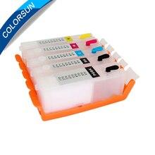 1set Refillable ink cartridge PGI570 CLI571 For Canon PGI-570 CLI-571 PGI-570XL CLI-571XL for PIXMA MG5750 MG5751 MG5752