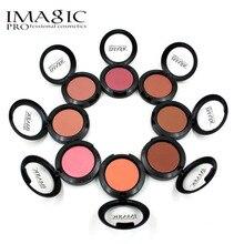 Presionado Maquillaje Mineral Blush del Polvo de Cara Colorete Mejilla Colorete Maquillaje Profesional Cosméticos Elegante Sombras 8 Colores por Imagic