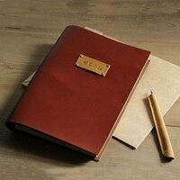 78P Photo Scrapbooking Book Travel Scrapbooking Book Photo Album Baby Story Book Wedding Anniversary Gift Genuine Leather Album